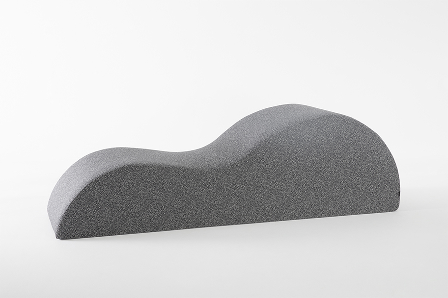 module en tissu gris clair de la marque Smarin, agence Parade