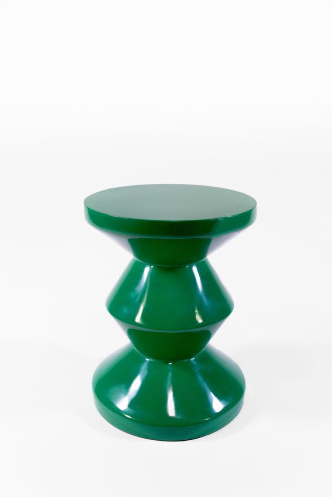 tabouret zig zag vert laqué, de la marque Pols Potten, agence Parade
