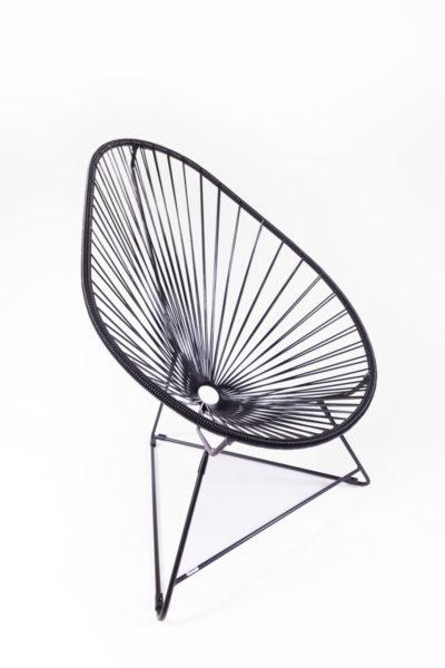 fauteuil Acapulco noir, de la marque Boqa, agence Parade
