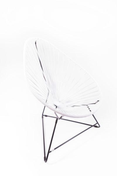 fauteuil Acapulco blanc, de la marque Boqa, agence Parade