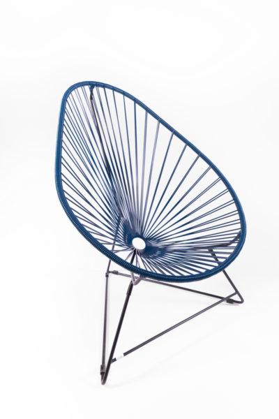 fauteuil Acapulco bleu, de la marque Boqa, agence Parade