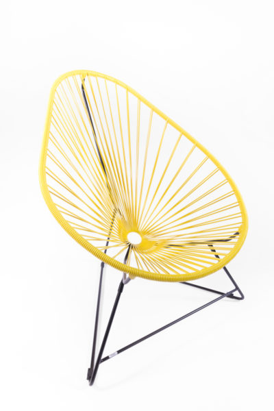 fauteuil Acapulco jaune, de la marque Boqa, agence Parade