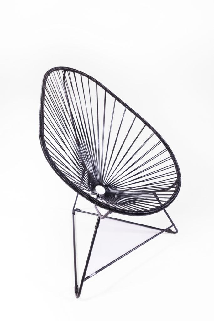 fauteuil acapulco noir. Black Bedroom Furniture Sets. Home Design Ideas
