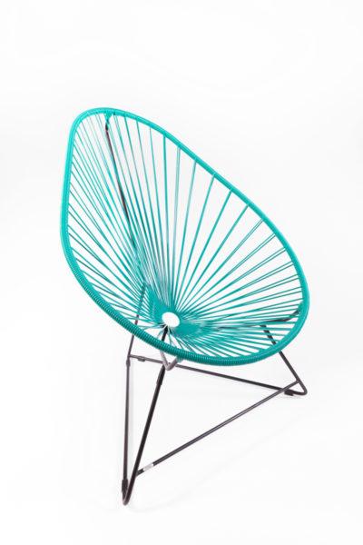 fauteuil Acapulco turquoise, de la marque Boqa, agence Parade