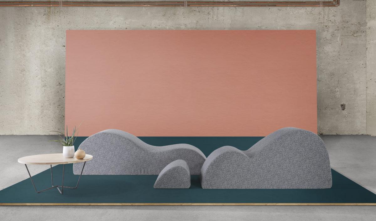 modules dunes de la marque Smarin sur un décor en bois peint
