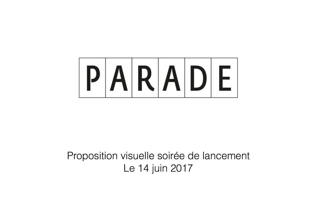 soirée de lancement, agence Parade