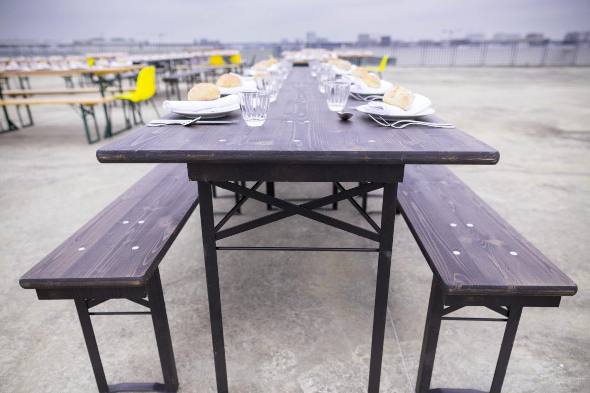 Table Berlinoise Et Bancs Location Table Et Bancs Pliants En Bois