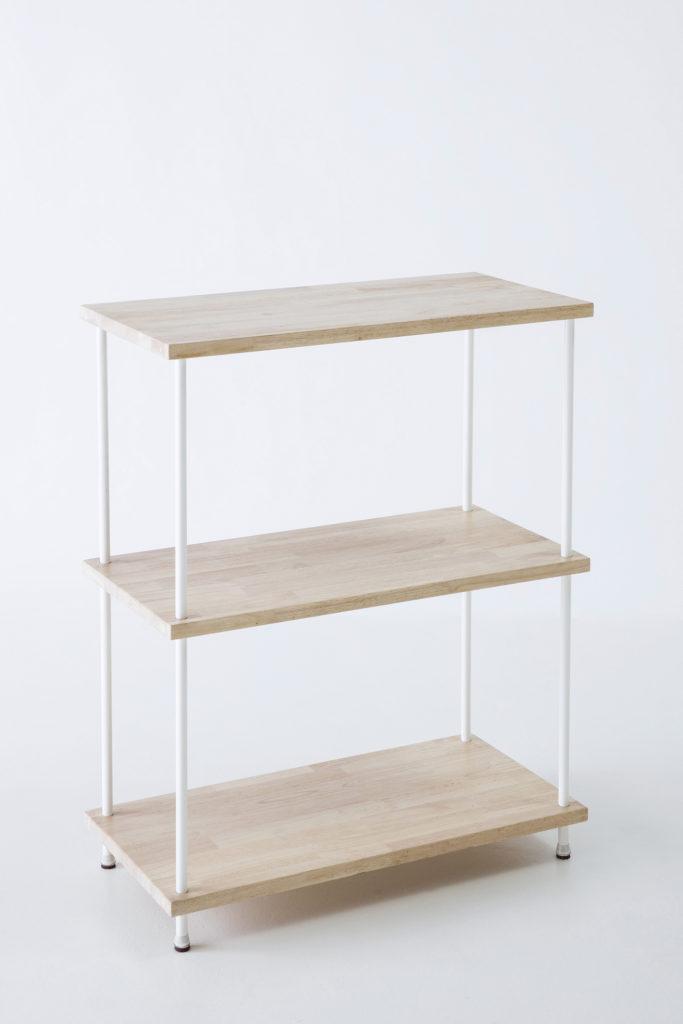 étagère en bois et métal, agence PARADE