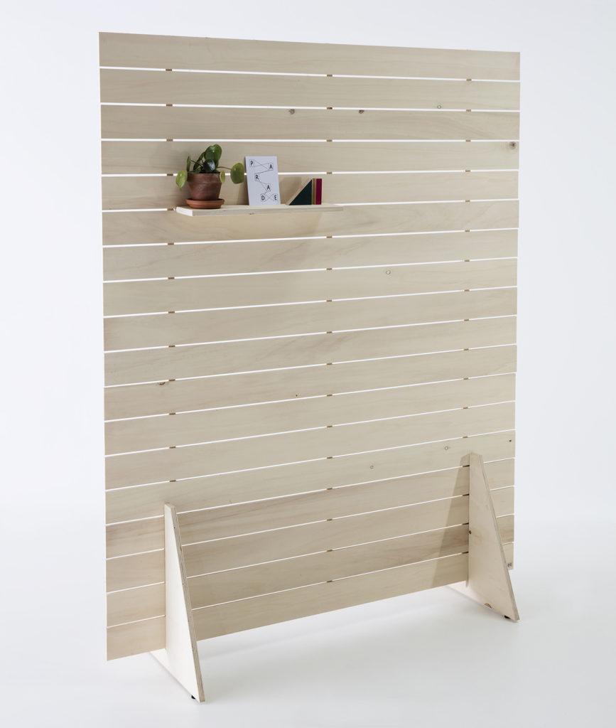 paravent en bois, avec étagère, agence PARADE